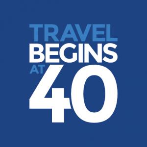 Travel Begins at 40 logo